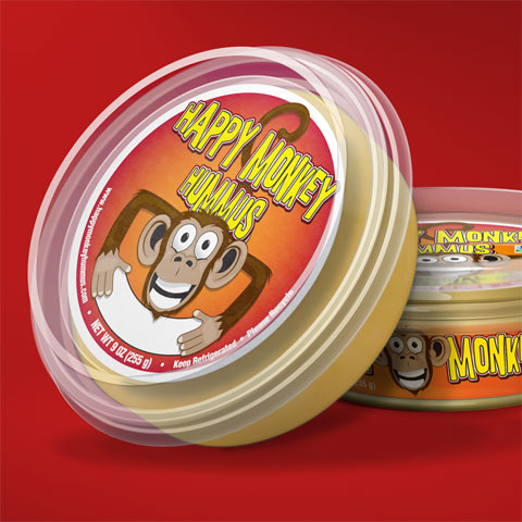 first labels for happy monkey