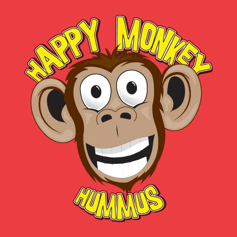 happy monkey logo in full color