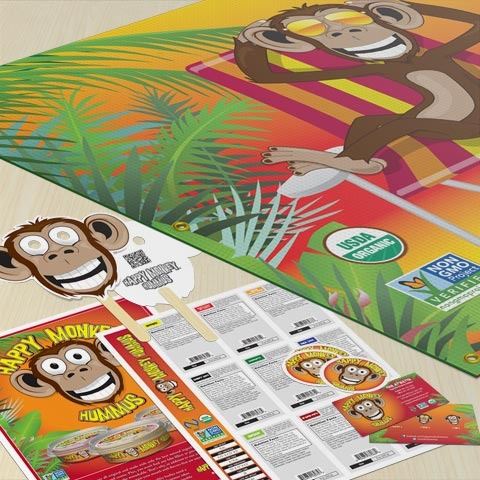 happy monkey marketing materials