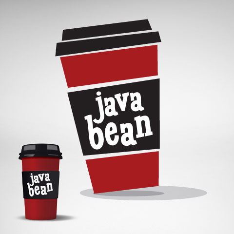 java bean logo and cup