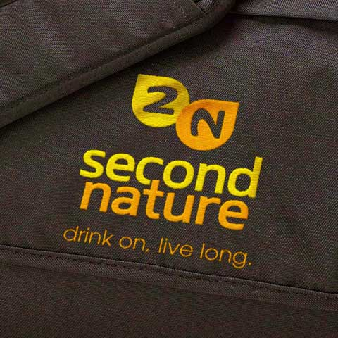embroidered second nature logo